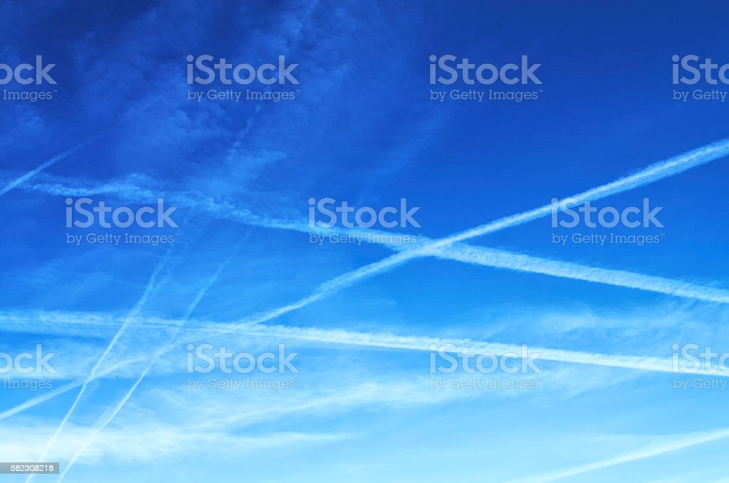 Sky with interesting cloud formation stock photo