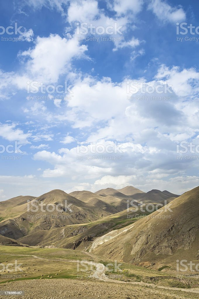 Sky with Landscape Mountains royalty-free stock photo