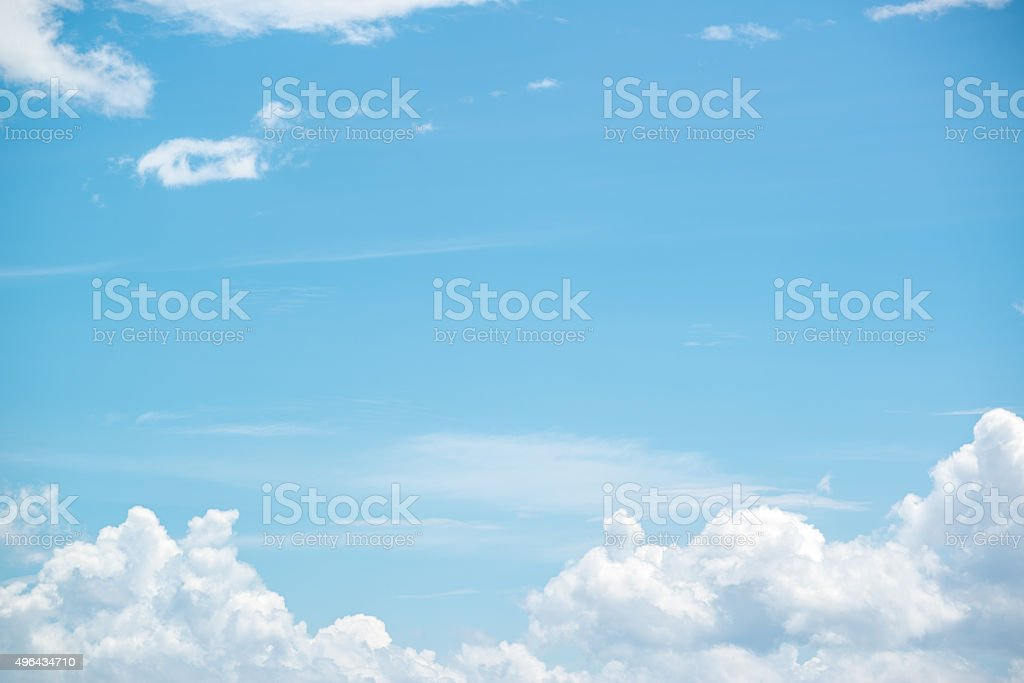 sky with white cloud stock photo