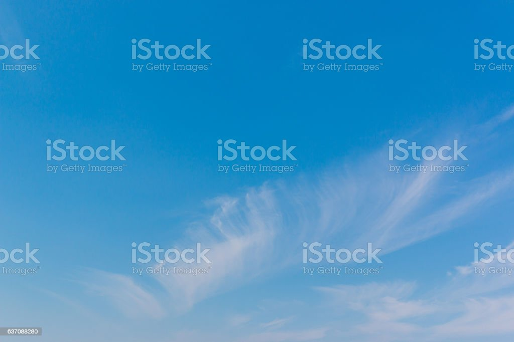 sky with white clouds and bright sky background. stock photo