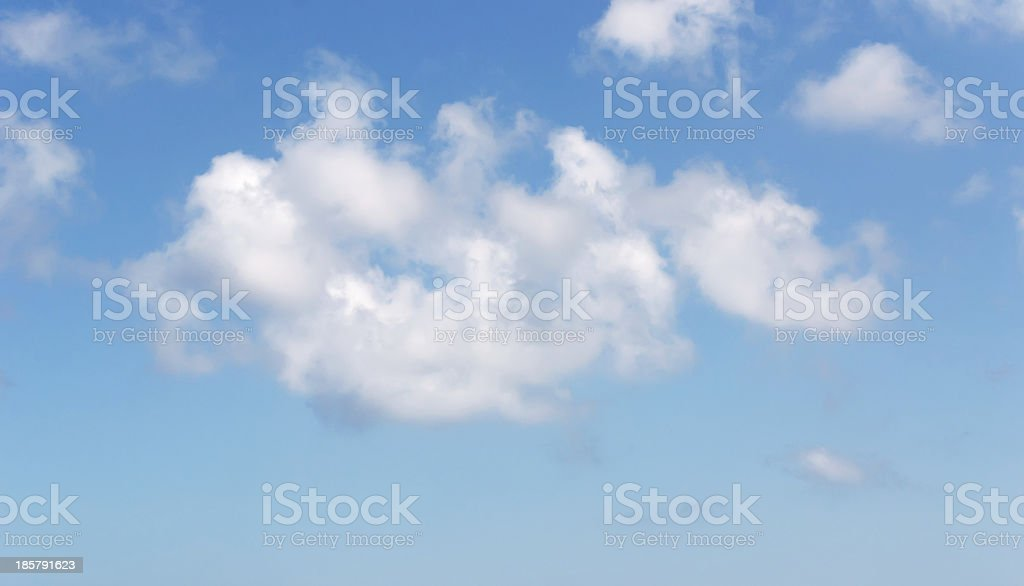 sky with white clouds royalty-free stock photo