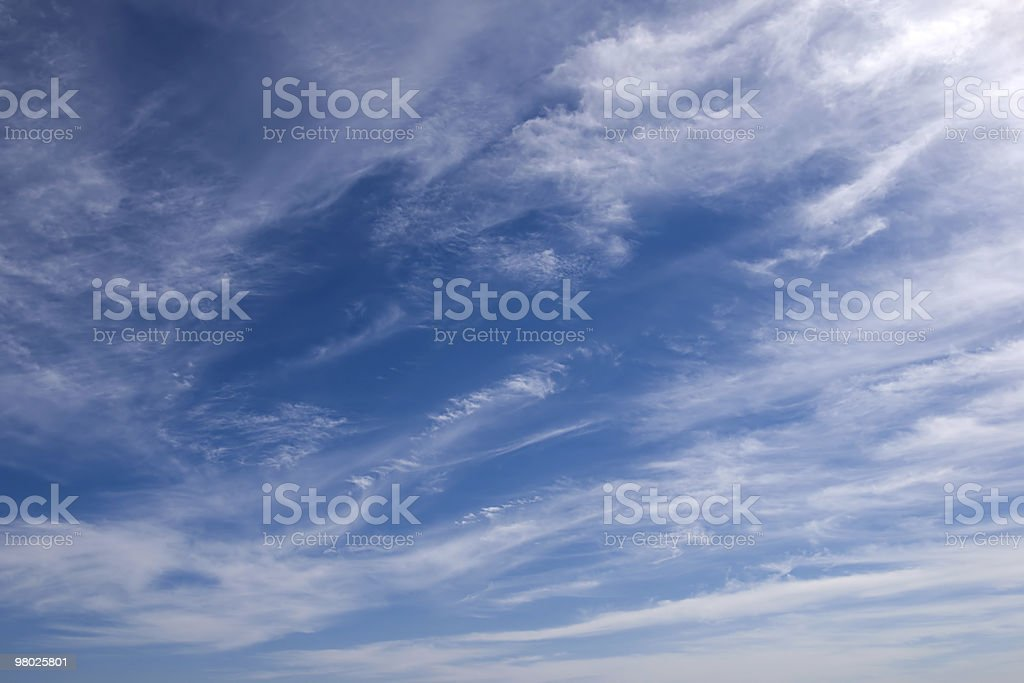 sky with white couds royalty-free stock photo