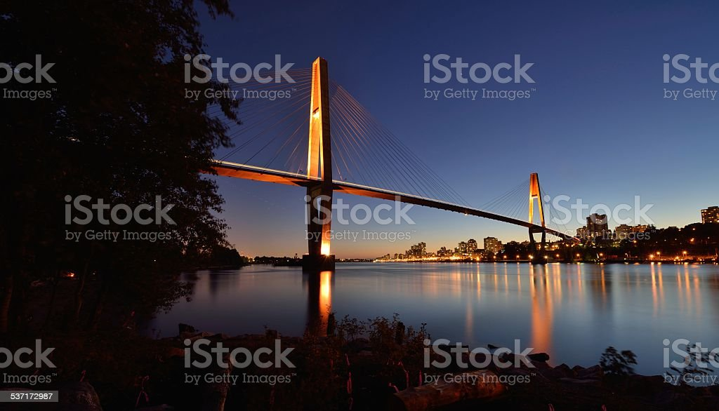 Skybridge between New Westminster and Surrey stock photo
