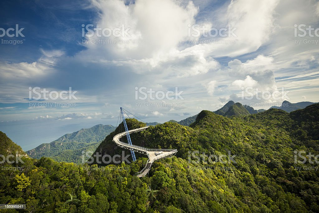 skybridge scenic view stock photo