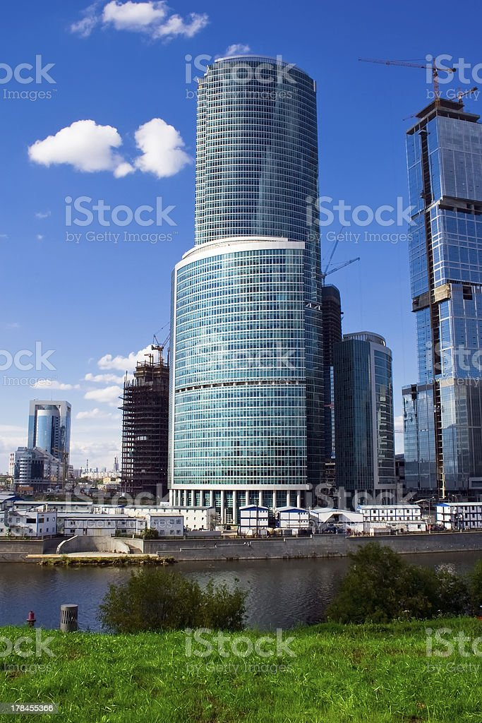 Skycrapers and river royalty-free stock photo