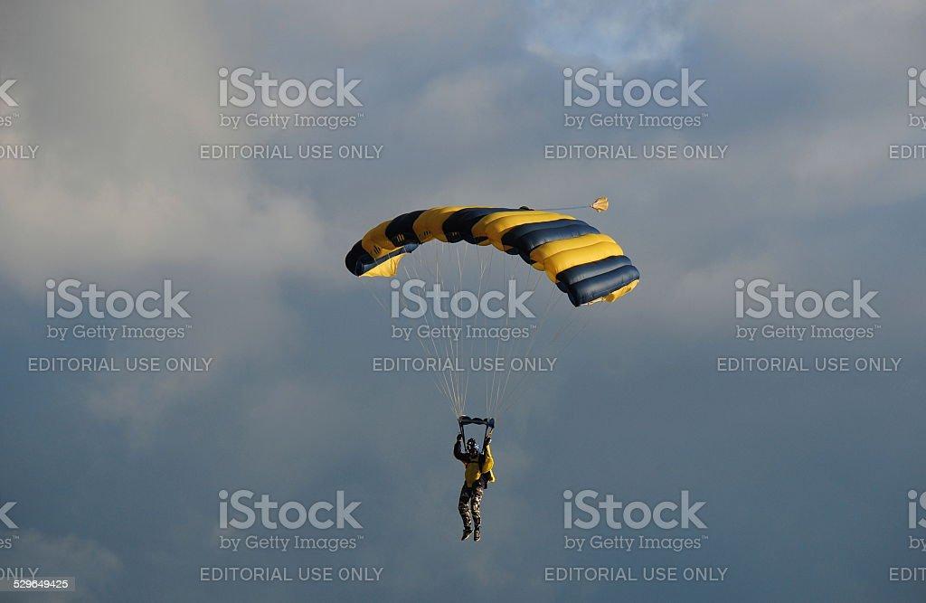 Skydive Jersey, U.K. stock photo