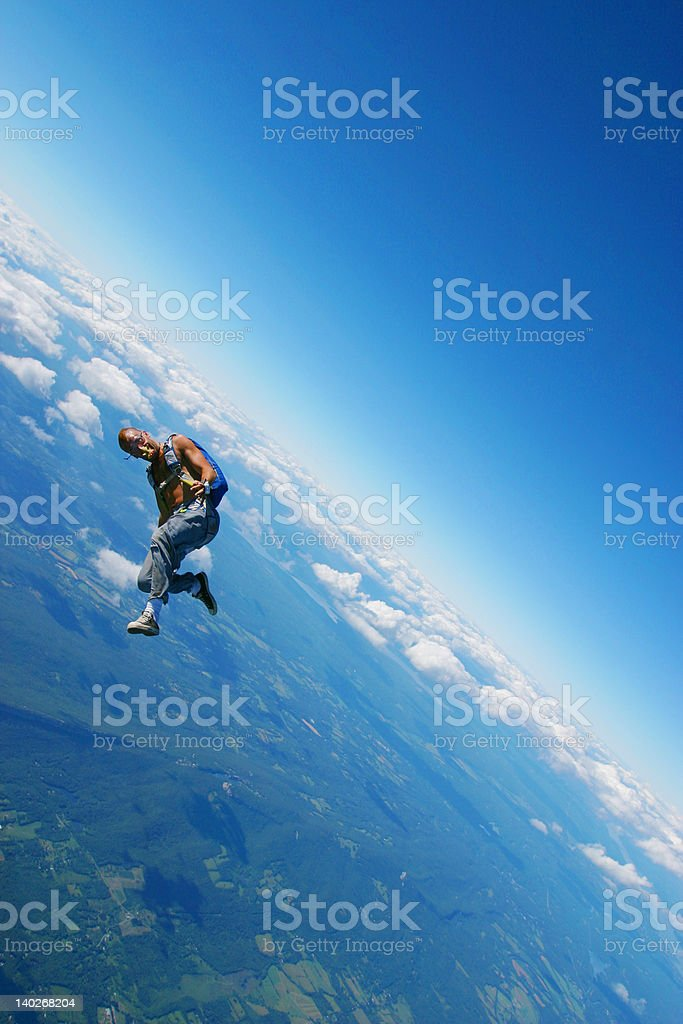 Skydiver chicken. stock photo