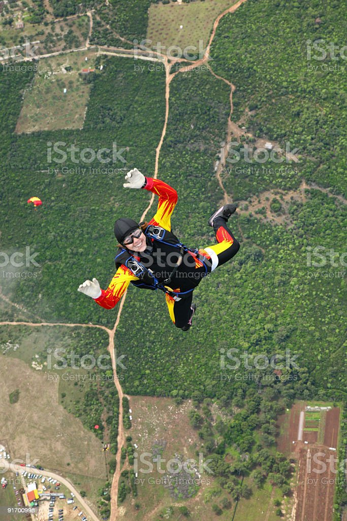 Skydiver in air-Losinj Island-Croatia royalty-free stock photo