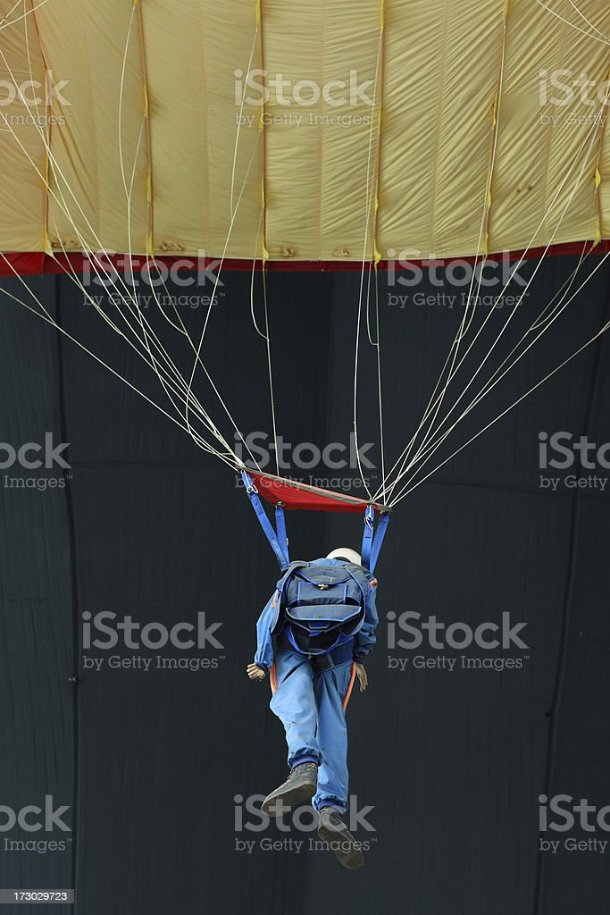 Skydiver mannequin stock photo