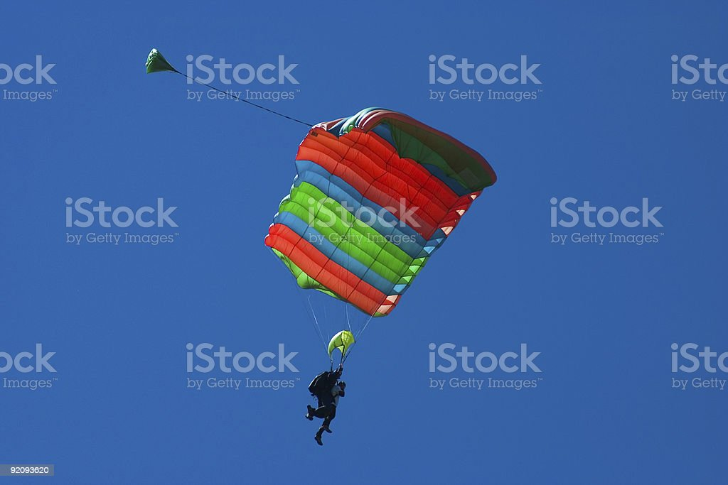 Skydivers tandem royalty-free stock photo