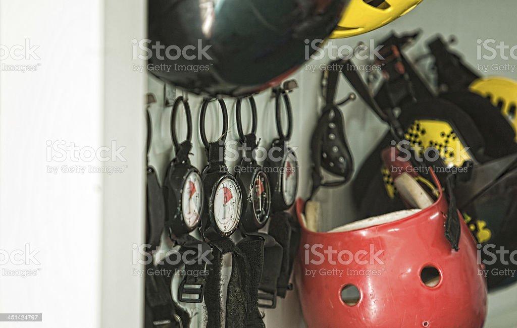 Skydiving equipment stock photo