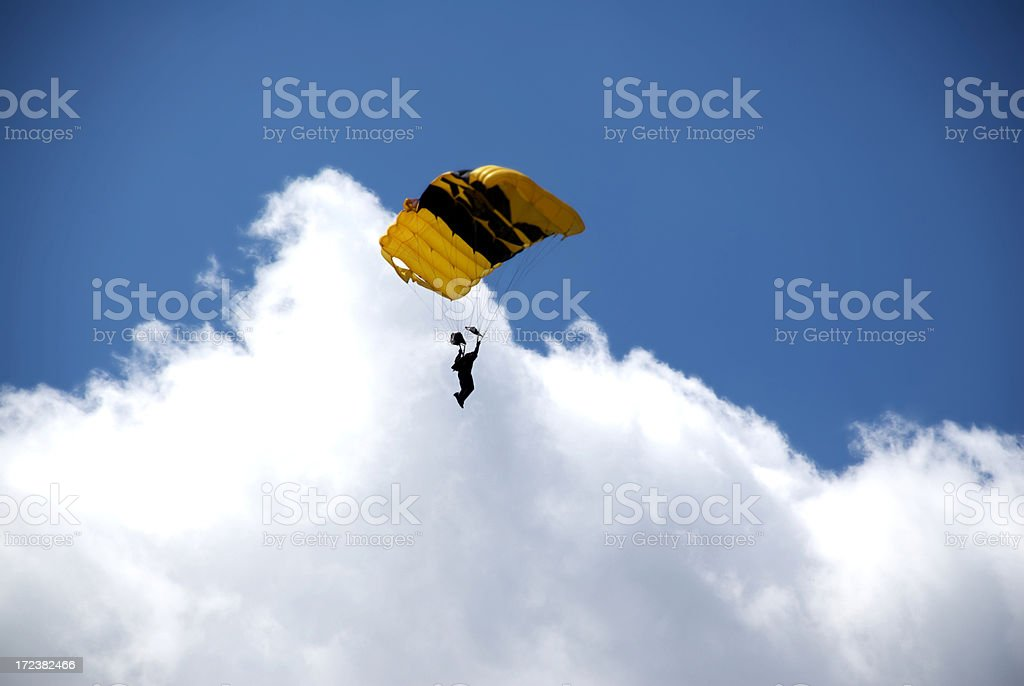 Skydiving royalty-free stock photo