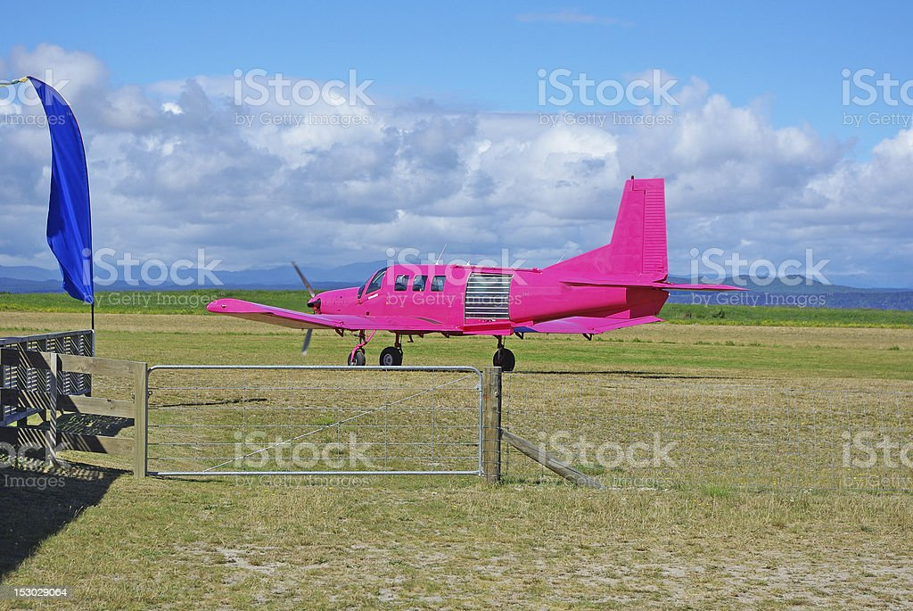 Skydiving plane royalty-free stock photo