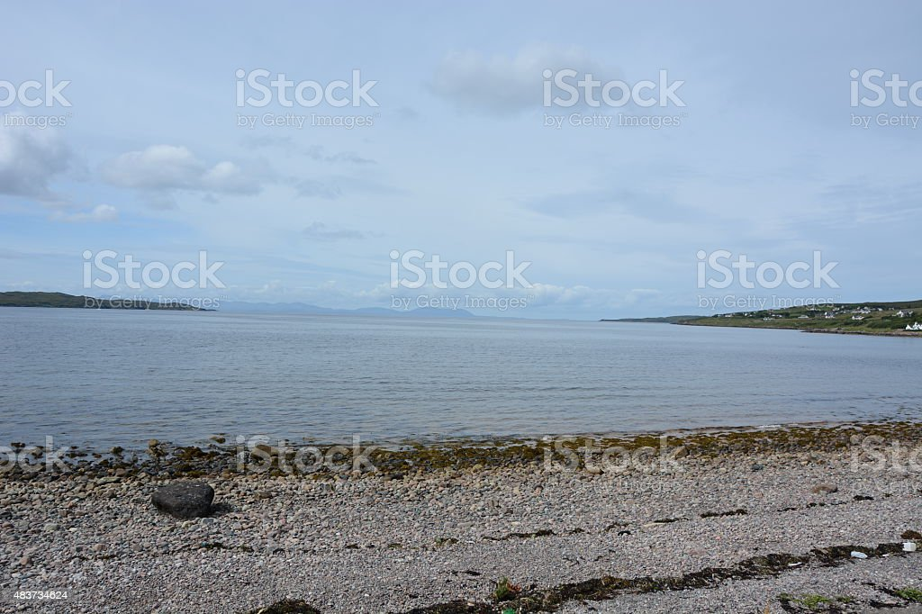 Skye and Raasay from Gairloch stock photo