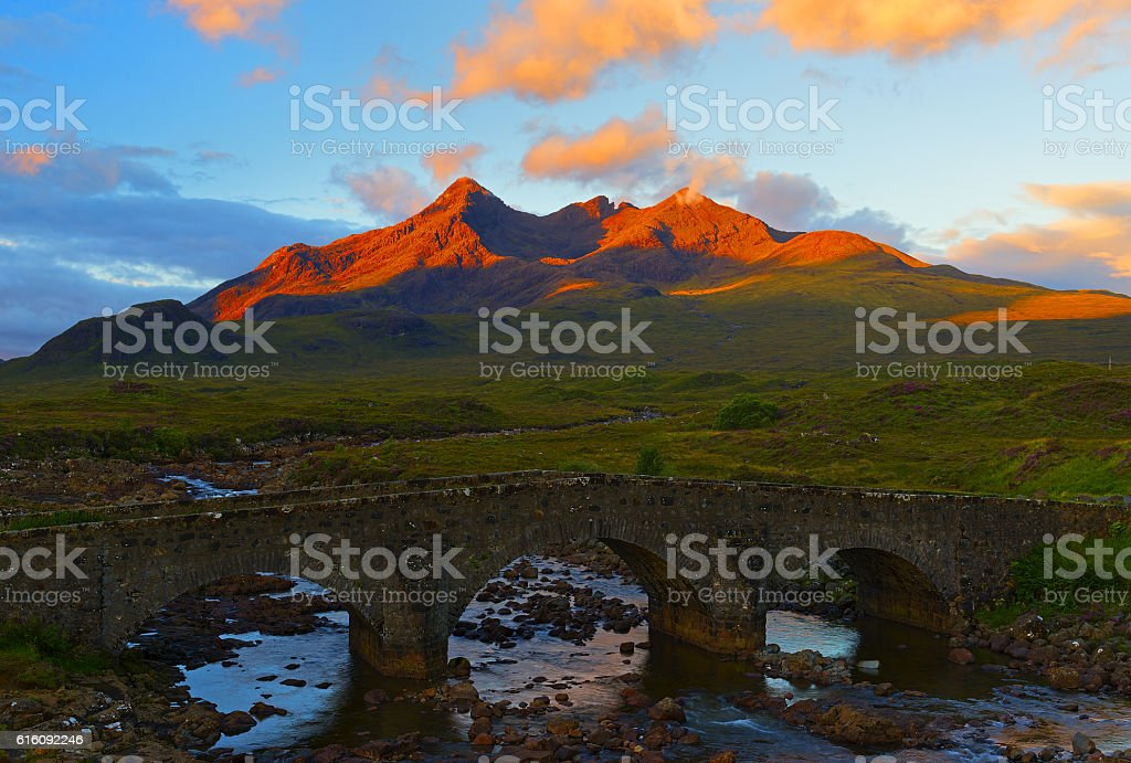 Skye island, Sligachan bridge stock photo