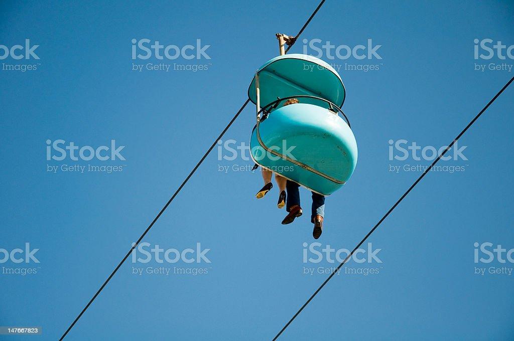Skyglider at Santa Cruz Boardwalk stock photo
