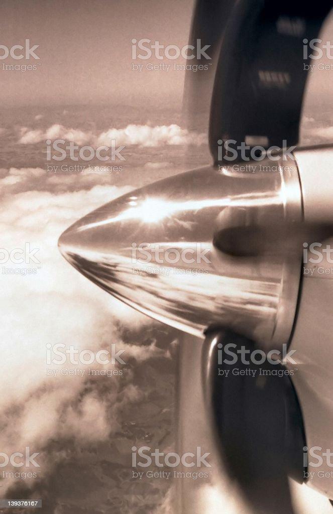 Skyjet (B/W) royalty-free stock photo
