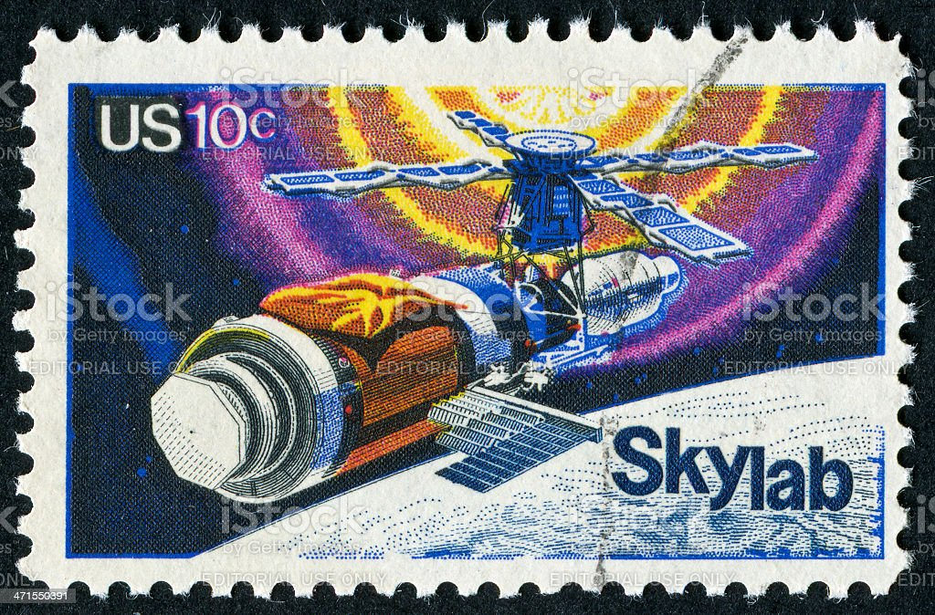 Skylab Stamp royalty-free stock photo