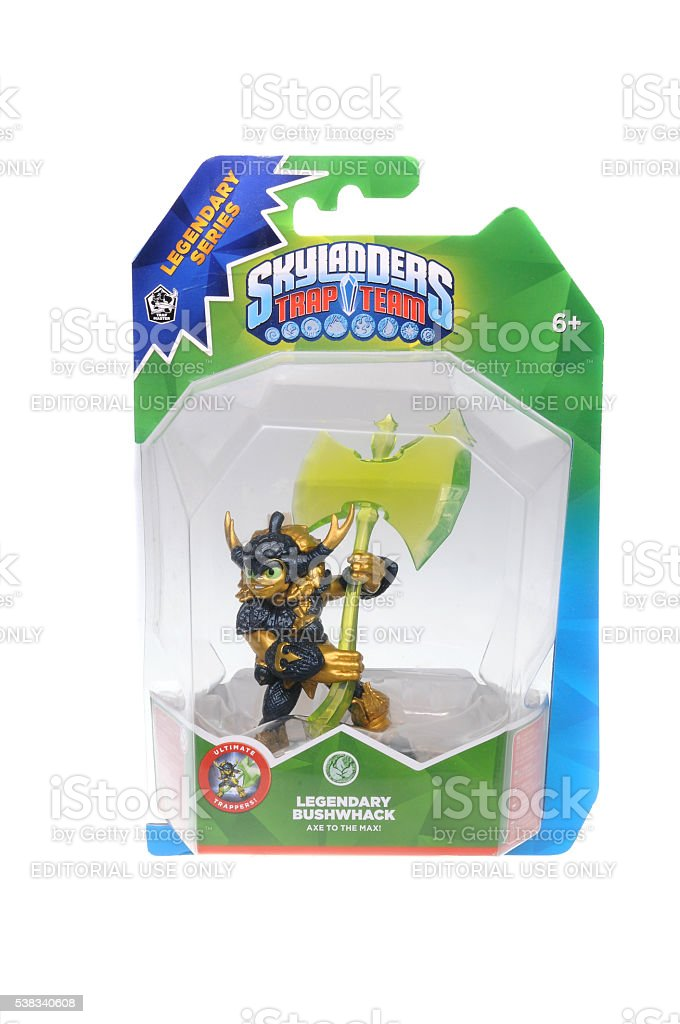 Skylanders Trap Team Legendary Bushwhack stock photo