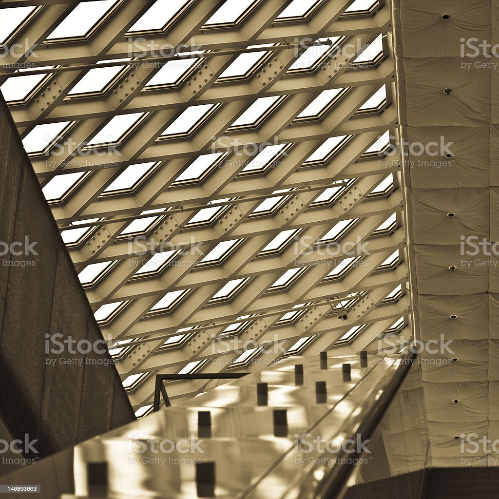 Skylight at Seattle Public Library stock photo