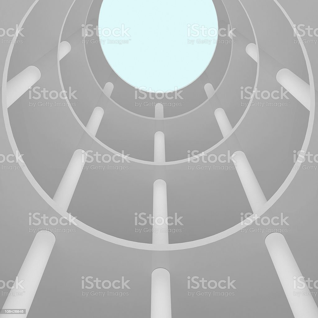 Skylight in the atrium of a building royalty-free stock photo