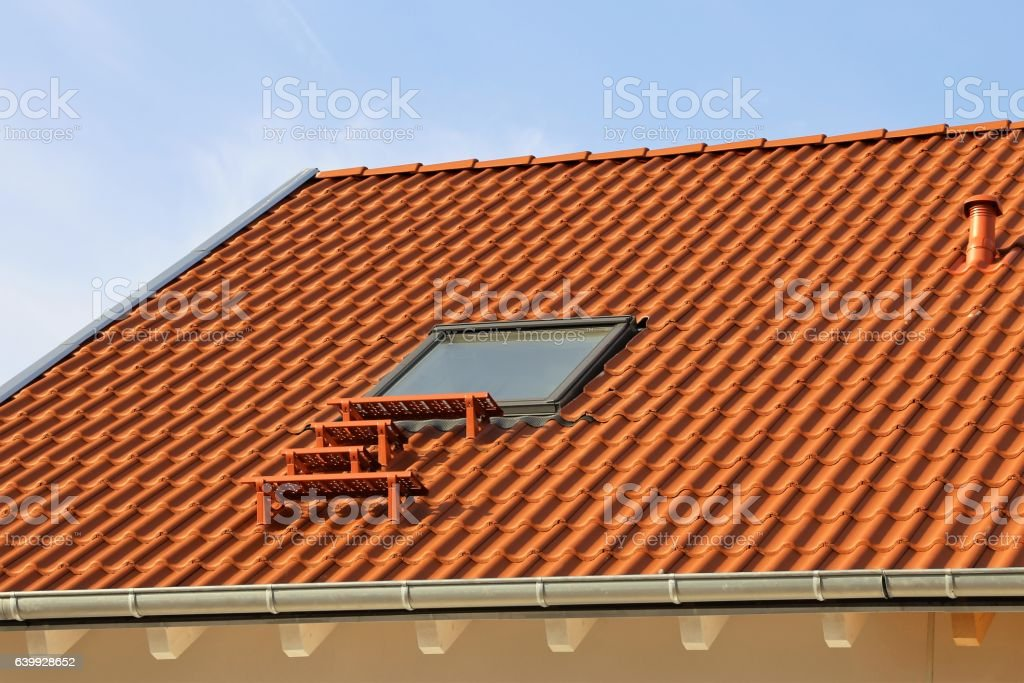 Skylight on a residential home stock photo