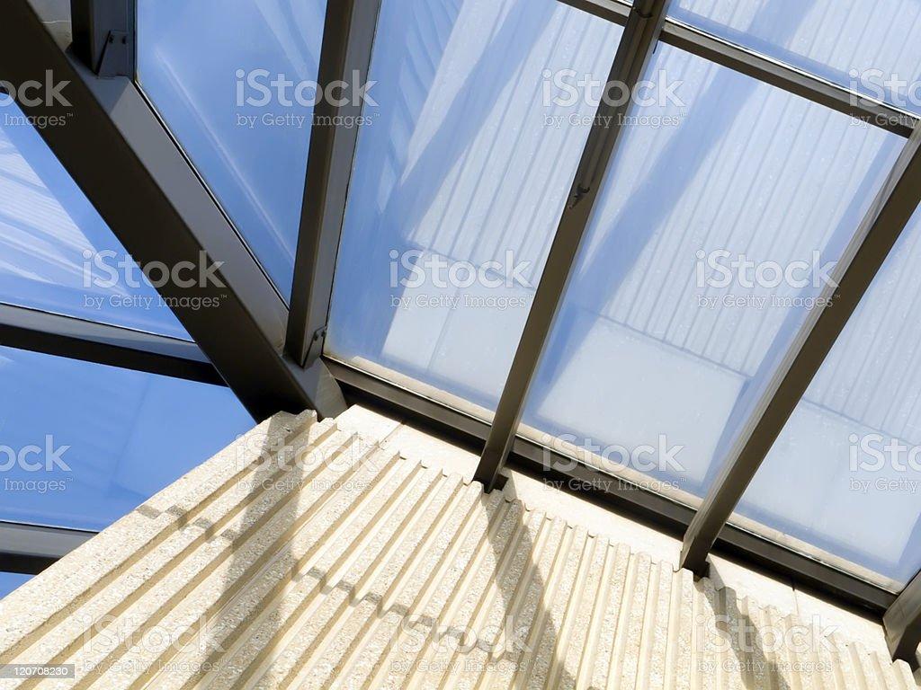 Skylight reflections royalty-free stock photo