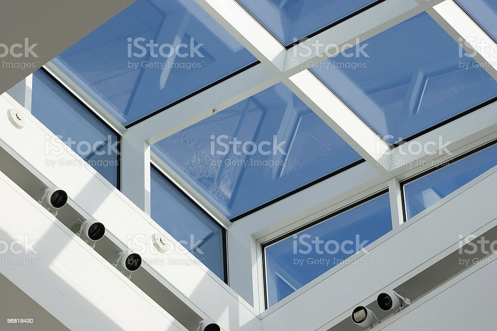 Skylight windows stock photo
