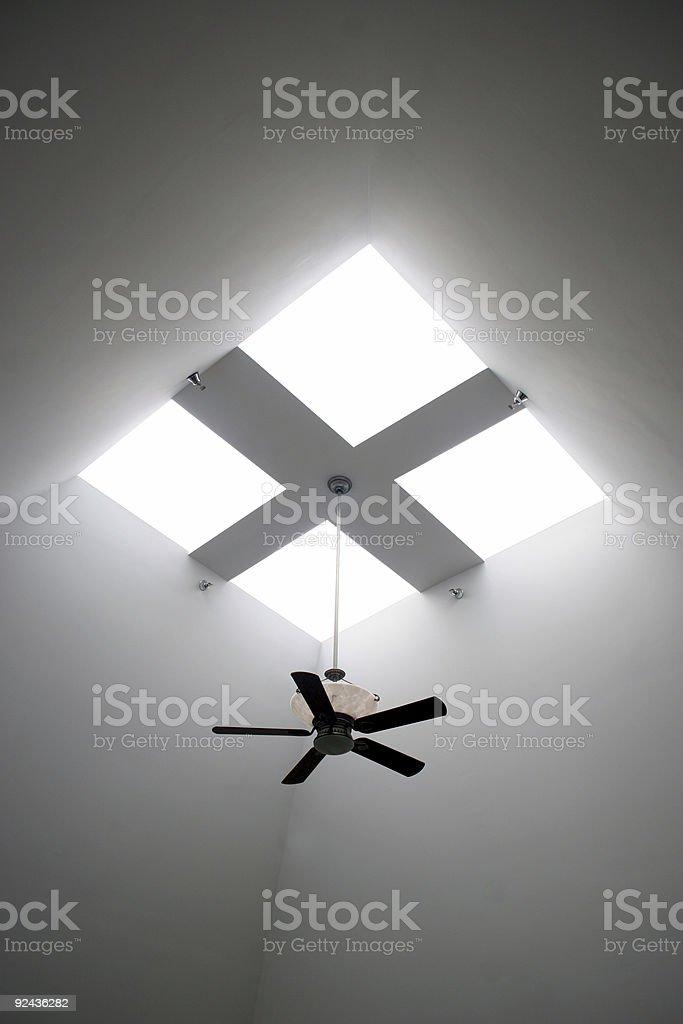 Skylight with fan royalty-free stock photo