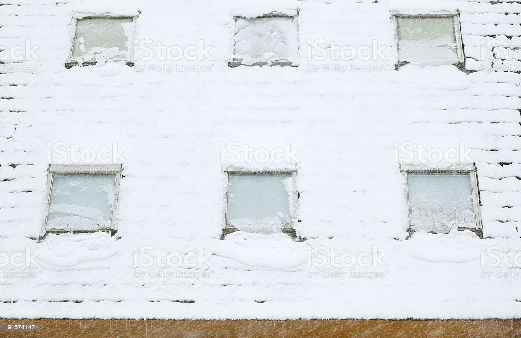 Skylights in a Blizzard stock photo