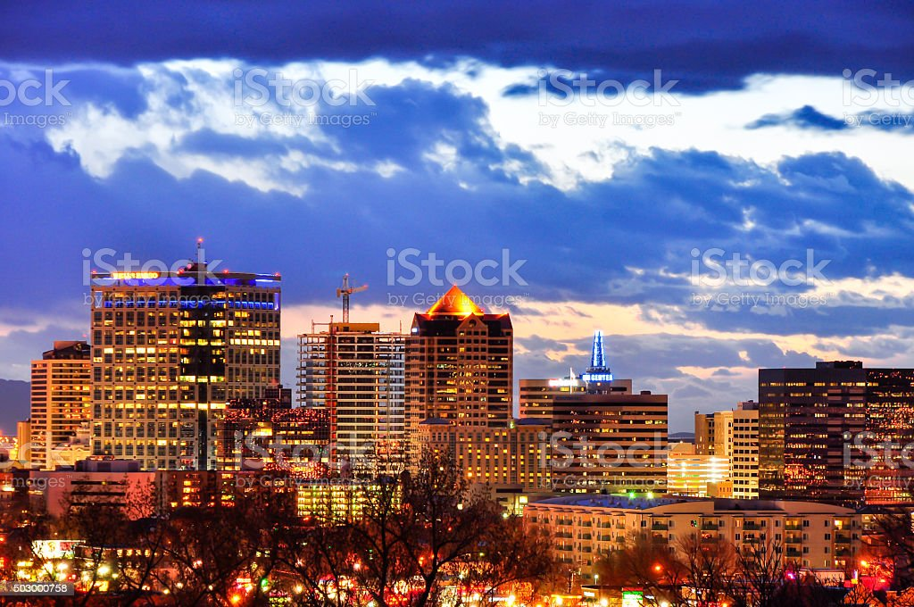 SLC Skyline 3 stock photo