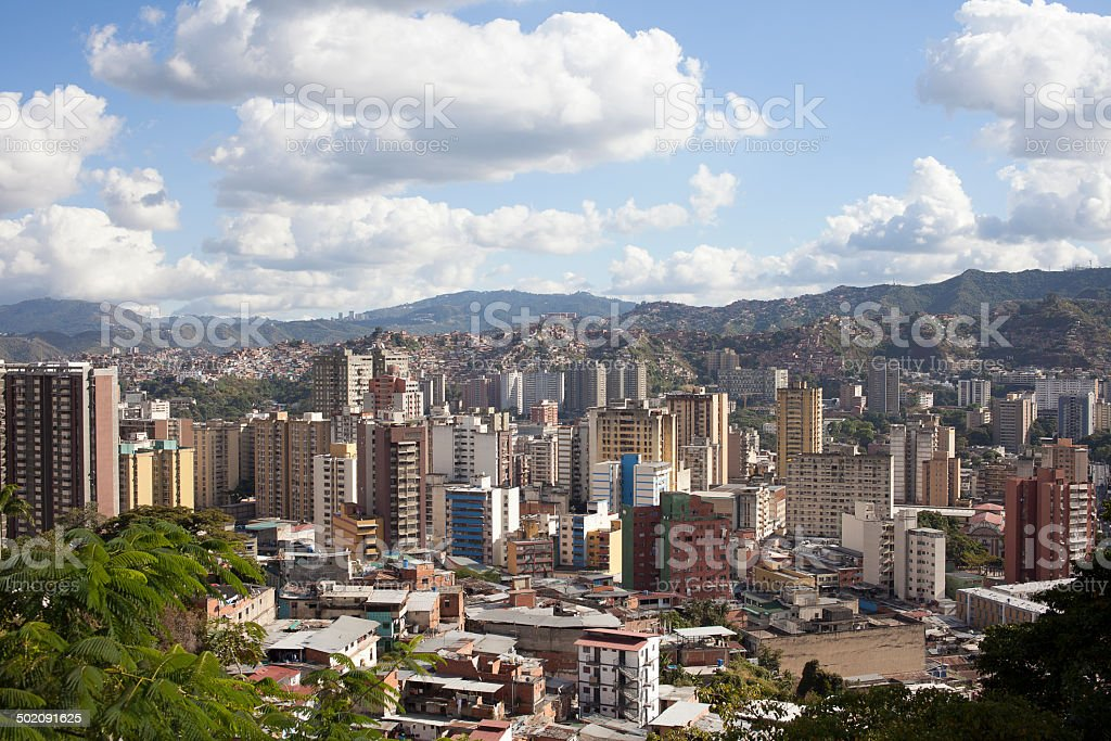 Skyline and Buildings of Caracas stock photo