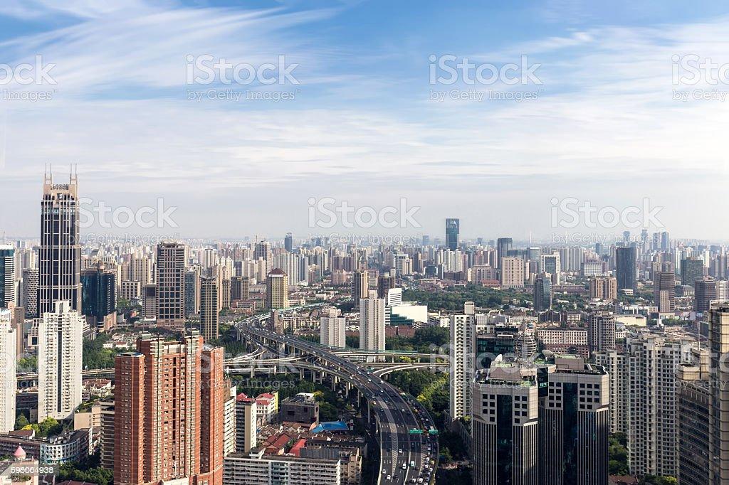 Skyline and cityscape of  modern city stock photo