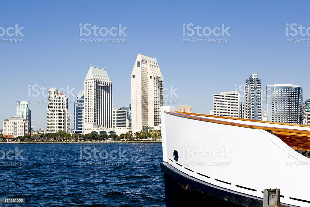 Skyline As Seen From The Bay (Horizontal) stock photo