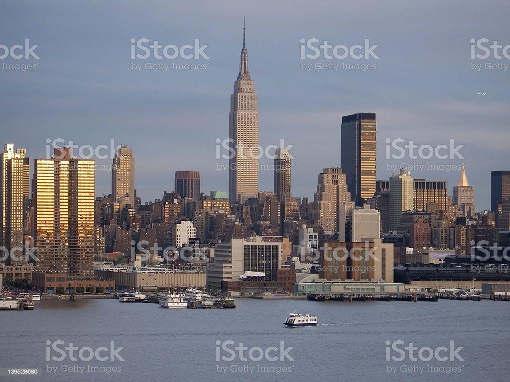 NY Skyline at Dusk royalty-free stock photo