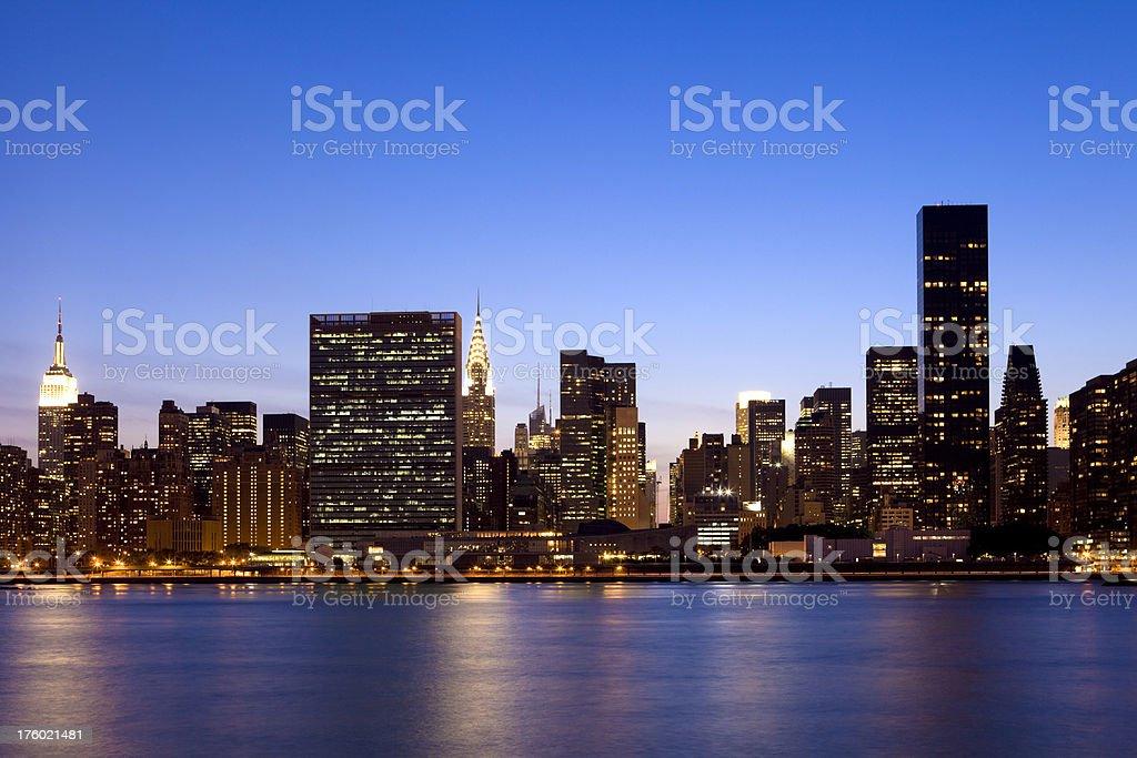NYC Skyline at Dusk royalty-free stock photo
