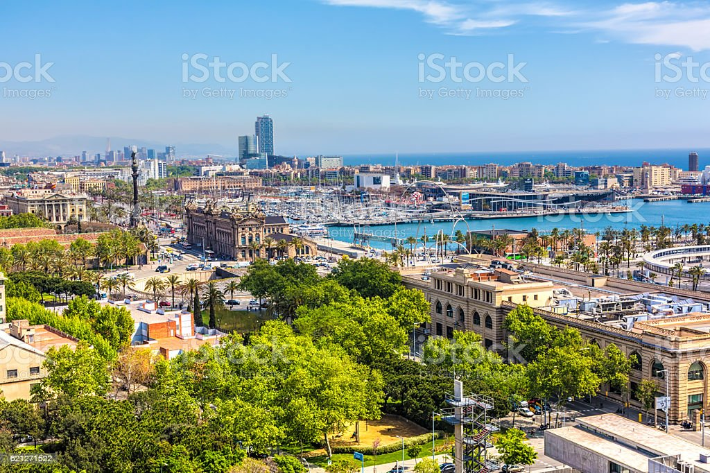 Skyline Barcelona stock photo