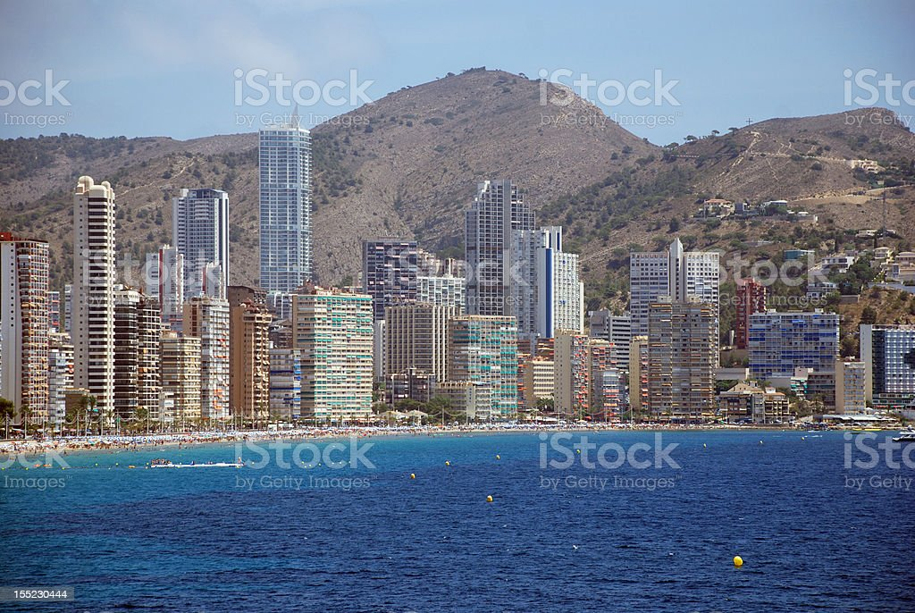 Skyline Benidorm royalty-free stock photo