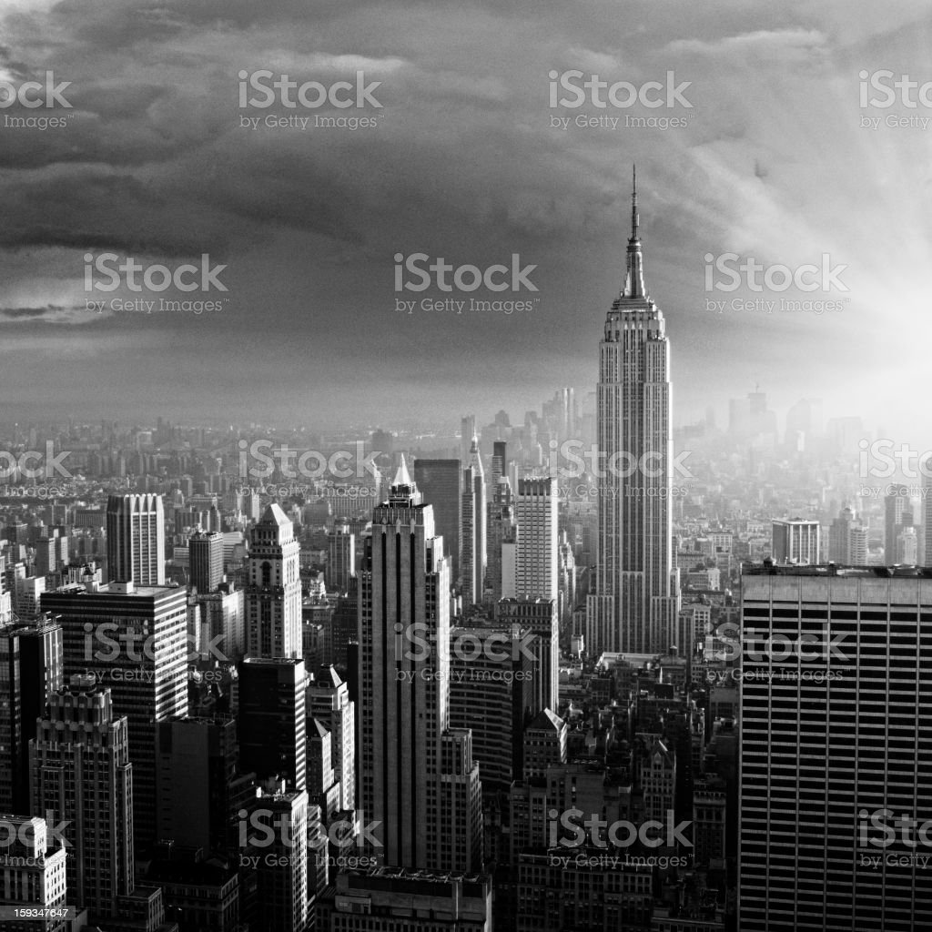 NYC Skyline. Black And White. royalty-free stock photo