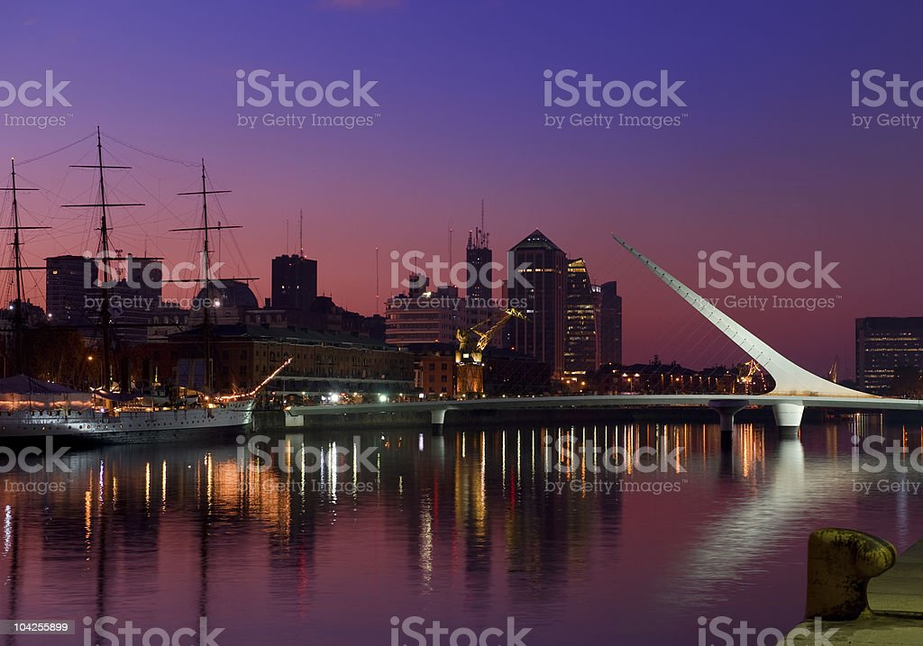 Skyline, Buenos Aires, Argentina. stock photo