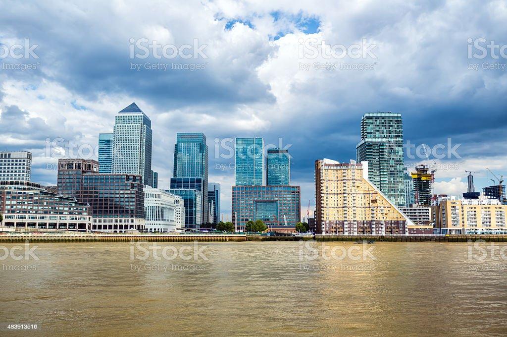 Skyline, Canary Wharf stock photo