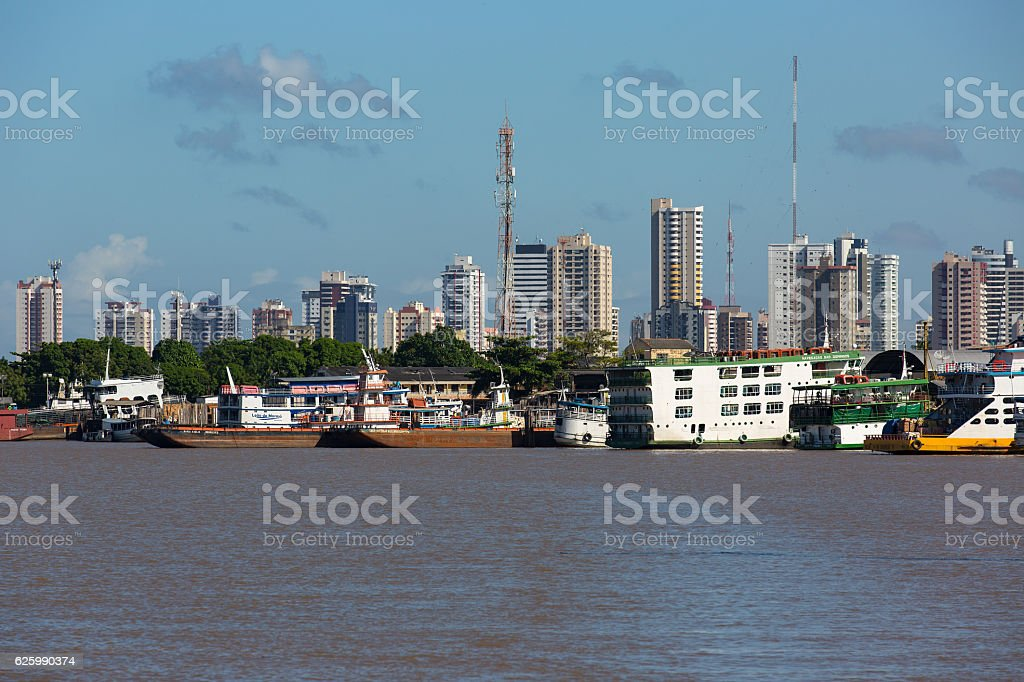 Skyline Cityscape Belém, Pará State, Brazil stock photo