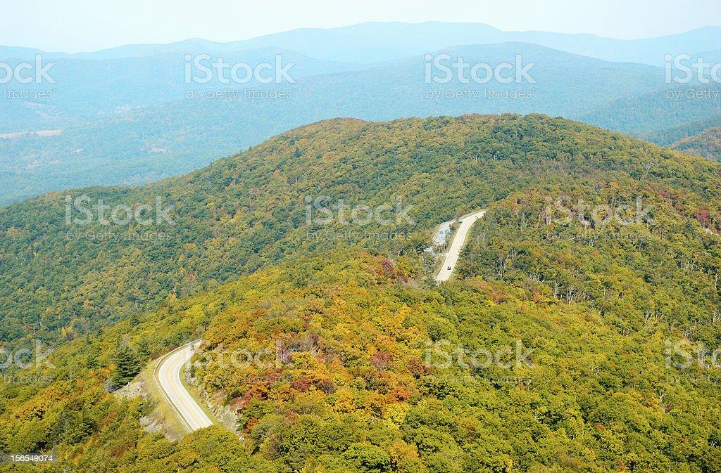 Skyline Drive at Shenandoah National Park royalty-free stock photo
