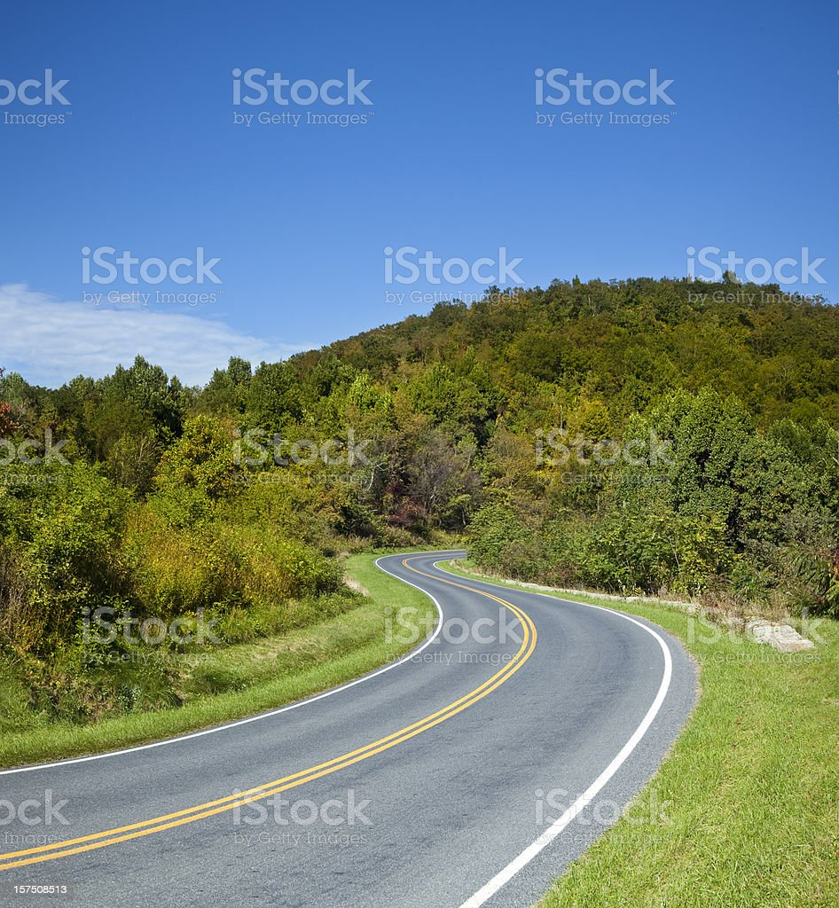 Skyline Drive stock photo