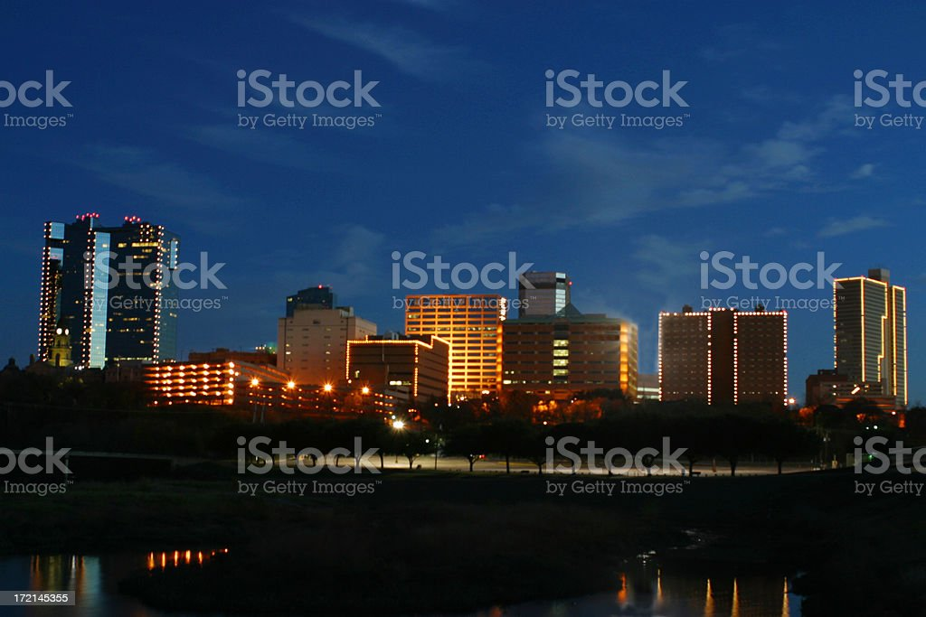 Skyline - Fort Worth stock photo