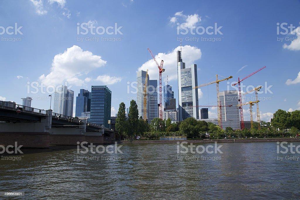 Skyline Frankfurt am Main mit Baukr?nen stock photo