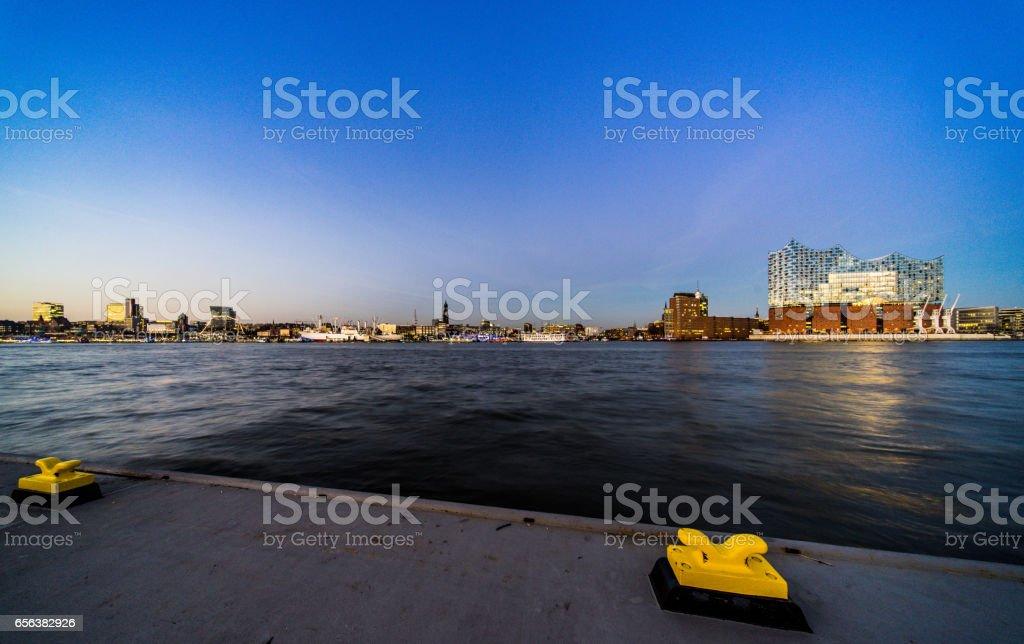 Skyline Hamburg stock photo