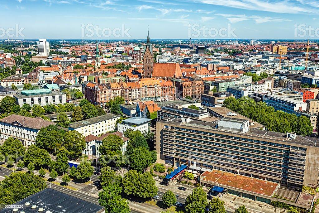 Skyline Hannover stock photo