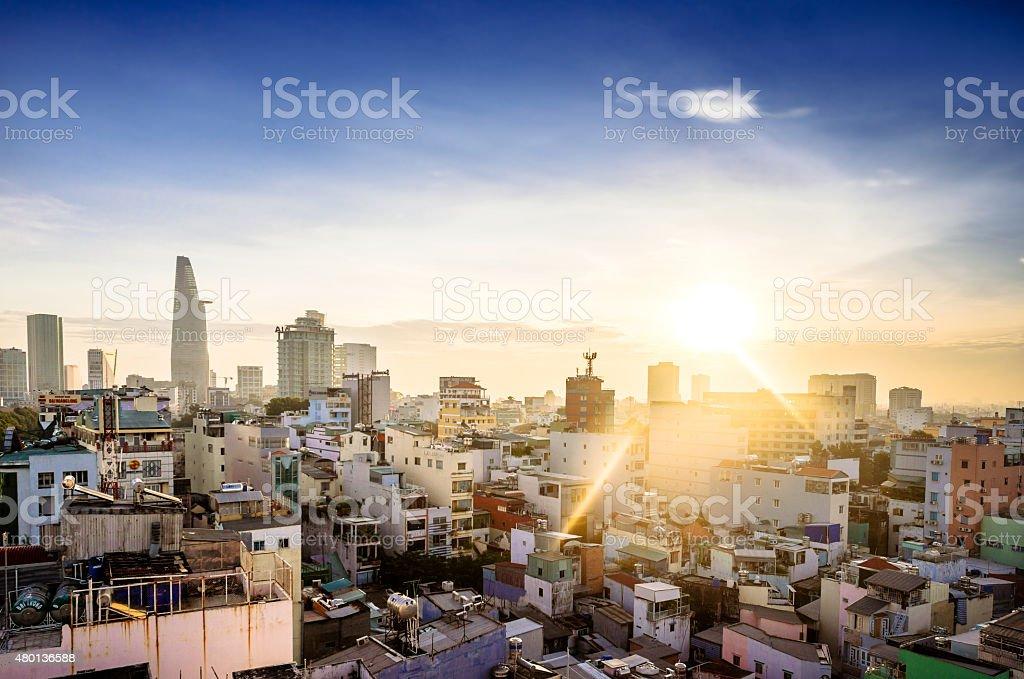 Skyline - Ho Chi Minh City (Saigon), Vietnam stock photo
