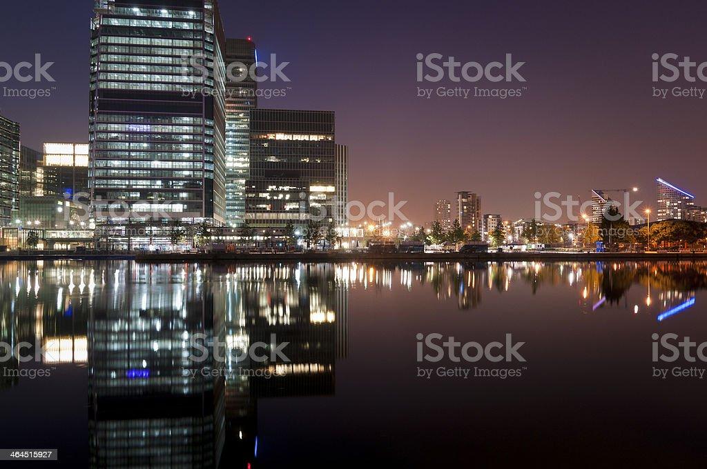 Skyline in Canary Wharf royalty-free stock photo